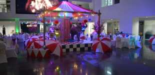 Vintage Circus Christmas Theming